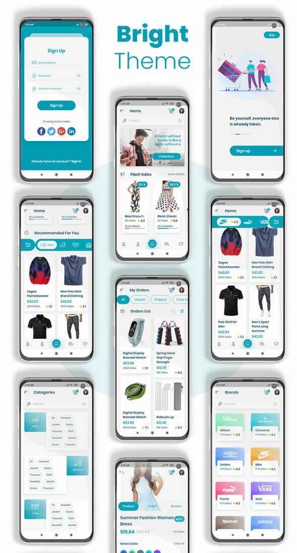 واجهة تطبيق فلاتر الخاصة بالتجارة الإلكترونية مجانا