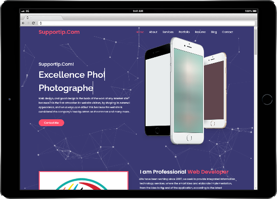 تصميم بروفايل مجانا - التميز لتصميم المواقع وتقنية المعلومات