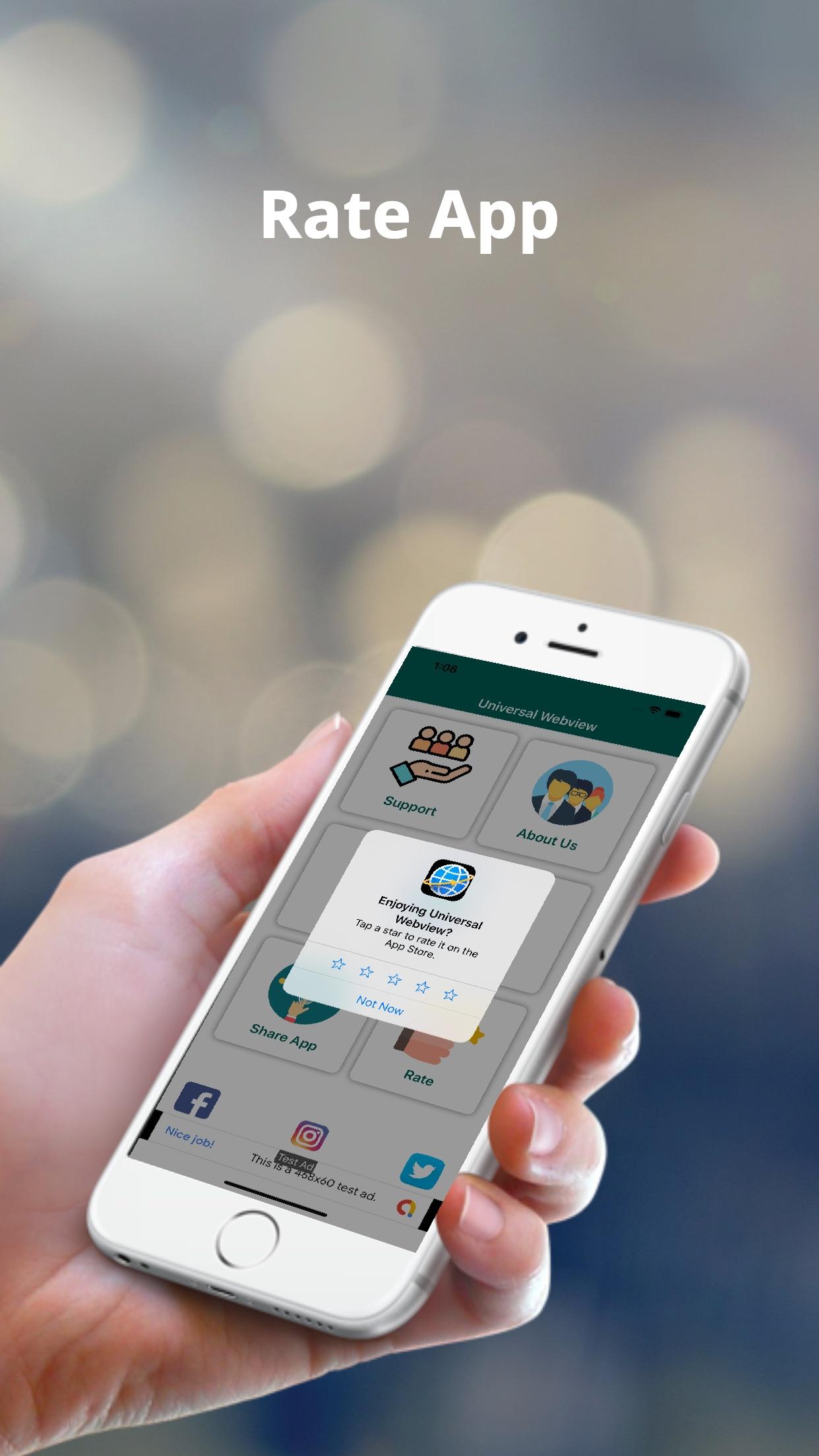 تطبيق ويب فيو iOS مجاني